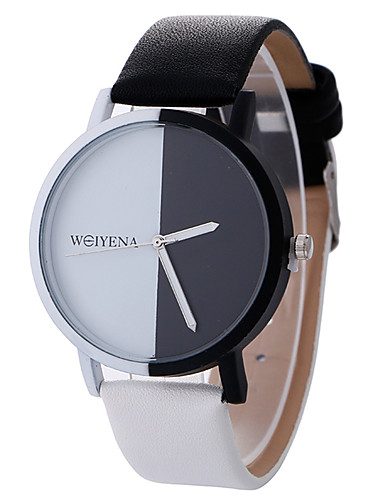 Women's Sport Watch / Wrist Watch Creative / Casual Watch / Cool Leather Band Charm / Luxury / Casual Black / White / One Year / SSUO LR626