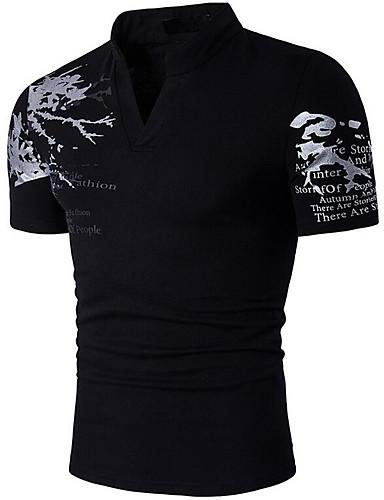 Men's Cotton T-shirt Print Stand