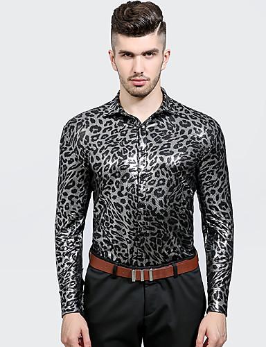 Homens Camisa Social - Festa Bandagem Temática Asiática Estampa Animal