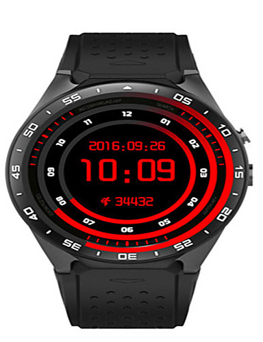 Men's Smart Watch Digital Silicone Band Black White Red