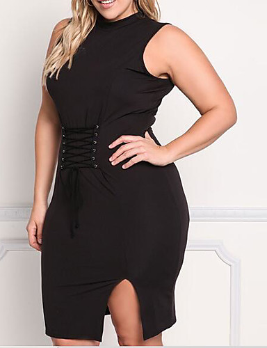 Women's Going out Daily Work Sexy Simple Cute A Line Bodycon Sheath Dress