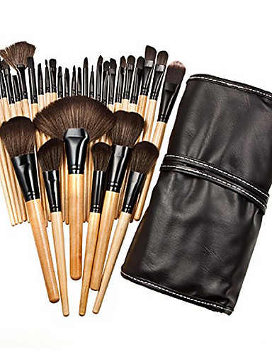 2802ab88da6 32pcs Professional Makeup Brush Set / powder foundation concealer blush  brush shadow eyeliner lip brow lashes brush cosmetic brushes Synthetic Hair  ...