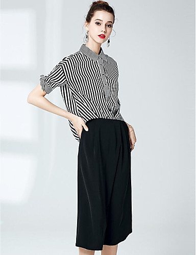 Women's Daily Casual Spring Summer Shirt Pant Suits