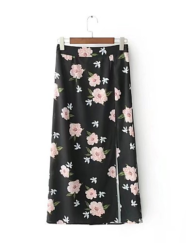Women's Going out Daily Midi Skirts