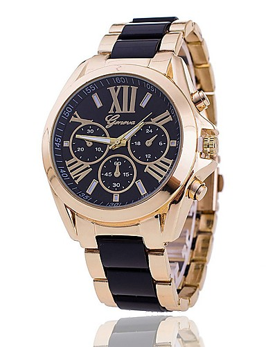 Geneva Women's Wrist Watch Chinese Casual Watch Alloy Band Charm / Casual / Fashion Black / White / Blue / One Year / SSUO LR626
