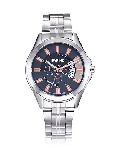 jewelora Homens Relógio de Pulso Relógio Elegante Relógio de Moda Chinês Quartzo Impermeável Mostrador Grande Resistente ao Choque Aço