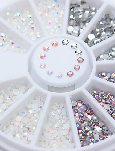 ราคาถูก Beauty & Hair-1 pcs เครื่องประดับเล็บ พลอยเทียม สำหรับ เล็บมือ เล็บ ทำเล็บมือเล็บเท้า สะท้อนแสง / สีผสม