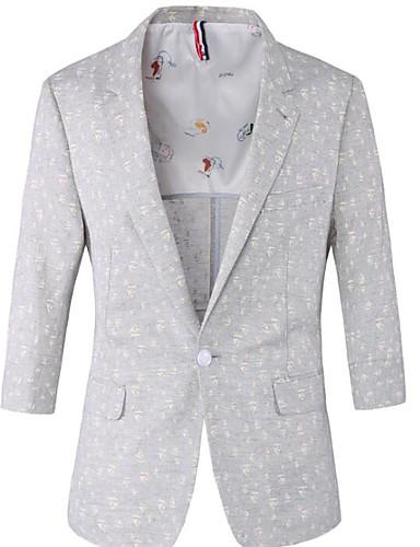 Herren Punkt Street Schick Ausgehen Lässig/Alltäglich Blazer,Steigendes Revers Frühling Sommer Standard Polyester Bestickt