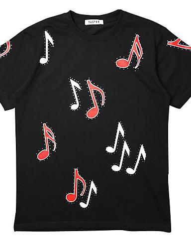 Damen Druck Einfach Ausgehen T-shirt,Rundhalsausschnitt Kurzarm Baumwolle