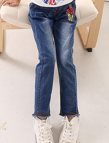 Mädchen Jeans Geometrisch Karton Baumwolle Ganzjährig
