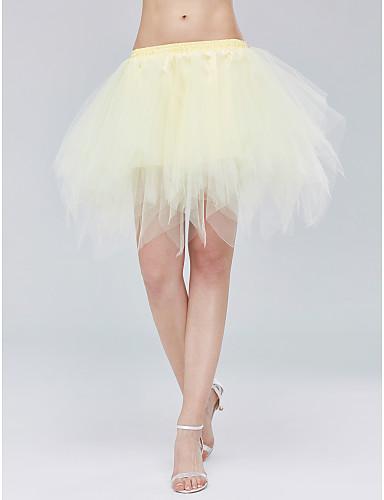زفاف حفل / مساء زلات قطن تول القصر- الطول لامع بسيط الالتفاف مع ببيونة بيضاء