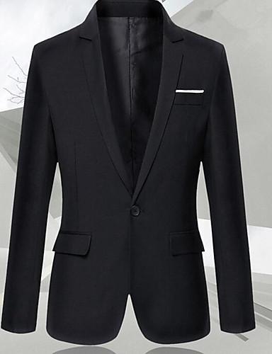 Men's Slim Blazer-Solid Colored Shawl Lapel / Long Sleeve