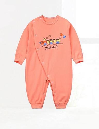 Baby Jungen Einzelteil Geometrisch Baumwolle Frühling Blau Orange
