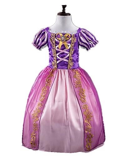 fbb6c9a9a93b Prinsessa Sagolikt Cosplay Klänningar Barn Flickor Jul Halloween Karnival  Festival / högtid Elastan Tactel Purpur Karnival Kostymer Vintage
