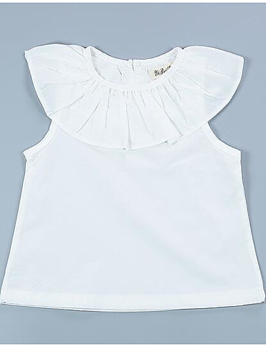 Baby Mädchen T-Shirt Modisch Gerüscht Weiß