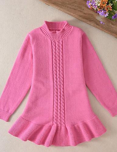 Mädchen Bluse einfarbig Wolle Herbst Winter