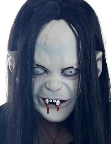 billige Cosplay og kostumer-Zombie Cosplay Halloweentillbehör Maskerade Unisex Halloween Karneval Festival / Højtider Sort Karneval Kostume Vintage