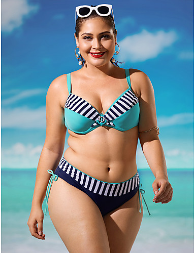 a45012a1 Dame Store størrelser Med stropper Bikini - Trykt mønster, Underbukser  Stripet