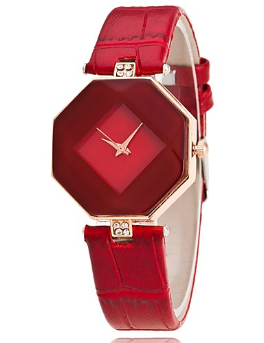 Women's Ladies Wrist Watch Quartz Casual Watch PU Band Analog Charm Casual Fashion Black / White / Blue - Purple Red Blue