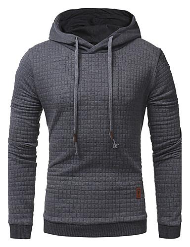 Męskie Sport Długi rękaw Długi Bluza z Kapturem - Jendolity kolor Kaptur