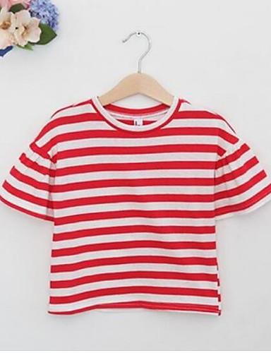Mädchen T-Shirt Streifen Baumwolle Sommer