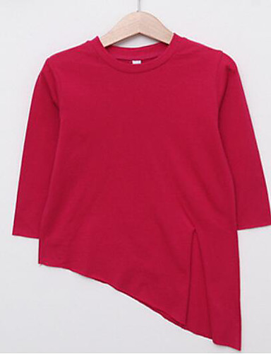 Mädchen T-Shirt einfarbig Baumwolle Frühling
