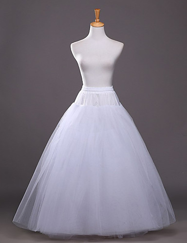 Wedding Party / Evening Party & Evening Slips Polyester Taffeta Tulle Floor-length A-Line Slip Ball Gown Slip Classic & Timeless with