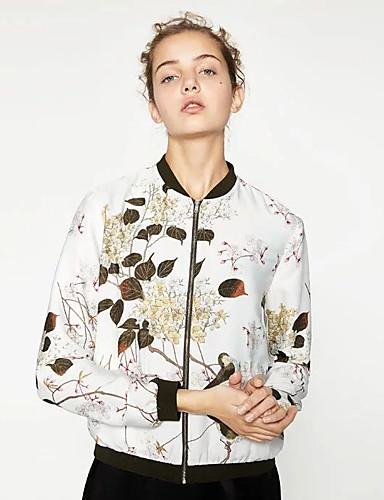 Damen Solide Druck Einfach Sport Ausgehen Jacke,Ständer Frühling Herbst Langärmelige Standard Andere Bestickt