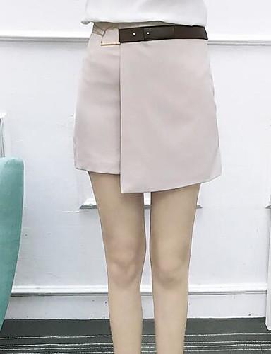 Damen Ausgehen Über dem Knie Röcke A-Linie einfarbig Sommer