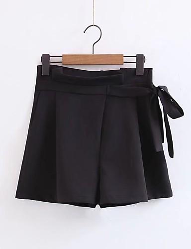 Damen Street Schick Mittlere Hüfthöhe Mikro-elastisch Lose Chinos Kurze Hosen Hose,Seide Baumwolle Acryl Frühling Sommer Herbst Solide