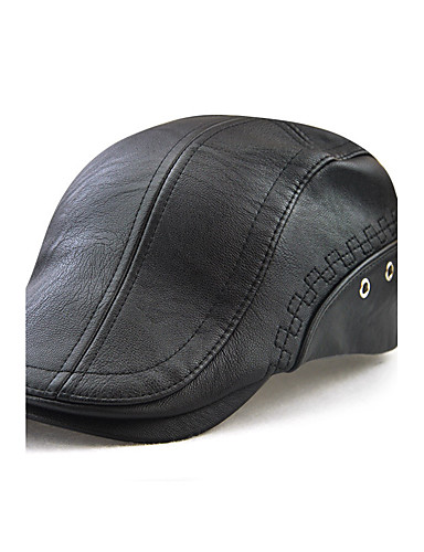Men's Active / Outdoor Beret Hat - Solid Colored Embroidered