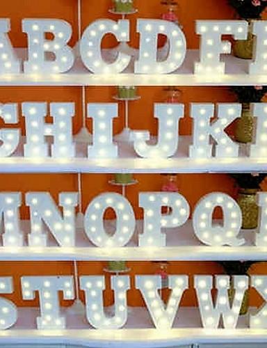 Недорогие Распродажа-1шт 26 букв алфавита LED Night Light От батареи Креатив / Свадьба / Украшение