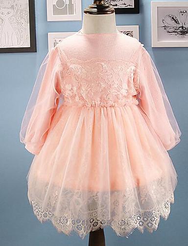 Mädchen Kleid einfarbig
