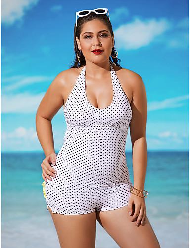 Damen Bikini / Einteiler - Hochgeschnitten / Punkt Nylon / Elasthan Halfter