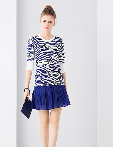 Women's Simple T-shirt - Striped