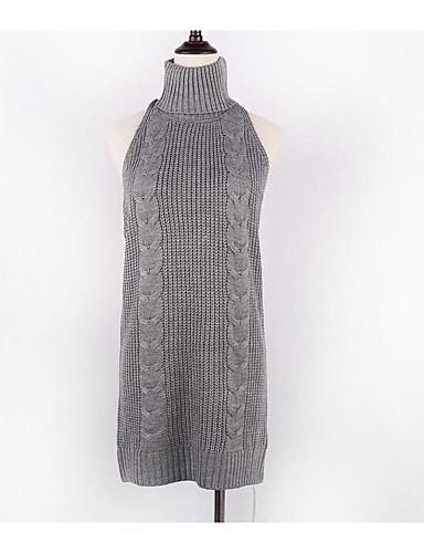 Damen Standard Weste-Lässig/Alltäglich Einfach Solide Rundhalsausschnitt Ärmellos Baumwolle Sommer Mittel Mikro-elastisch