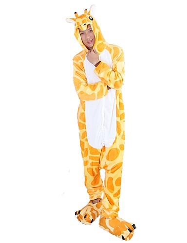 9227e40b40 Per adulto Pigiama Kigurumi Giraffa Pigiama a pagliaccetto Flanella Giallo  Cosplay Per Uomini e donne Pigiama a fantasia animaletto cartone animato  Feste ...