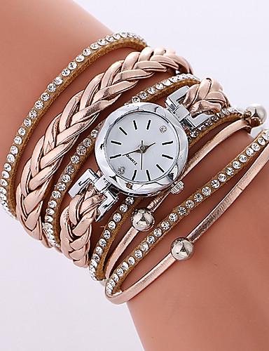 Women's Bracelet Watch Quartz 30 m Casual Watch Cool PU Band Analog Casual Fashion Black / White / Beige - White Black Beige