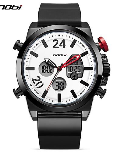 SINOBI Men's Sport Watch Digital Watch Japanese Digital 30 m Water Resistant / Water Proof Calendar / date / day Creative Silicone Band Analog-Digital Casual Black - Black / LED / Dual Time Zones