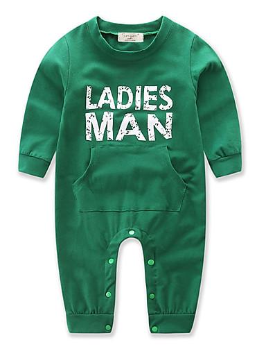 Μωρό Αγορίστικα Επίσημο ρούχο Χριστούγεννα Συμπαγές Χρώμα   Άλλα  Μακρυμάνικο Βαμβάκι Ολόσωμη Φόρμα   Φόρμες Πράσινο του τριφυλλιού   Νήπιο 0e72a74876c