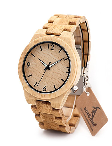 Men's Wrist Watch Chinese Chronograph / Water Resistant / Water Proof Wood Band Charm / Luxury / Casual Brown
