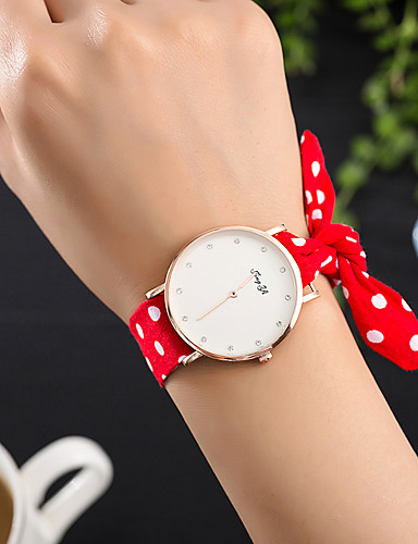 Women's Wrist Watch Creative / Cool Fabric Band Charm / Luxury / Casual Black / White / Red