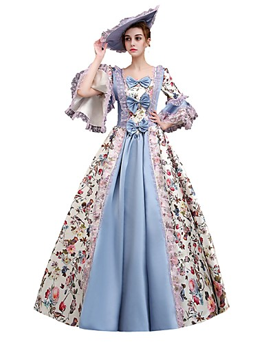 fc86a65746a3 Dress Cosplay Costume Masquerade Ball Gown Women's Victorian Medieval  Renaissance Party Prom Christmas Halloween Carnival Festival / Holiday  Satin Purple ...