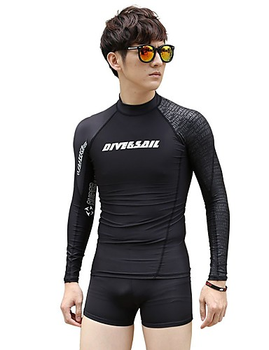 f750354620 Dive&Sail Men's Wetsuit Top 1.8mm Elastane Top Quick Dry Long Sleeve Diving  Snorkeling Solid Colored Autumn / Fall Spring / Stretchy