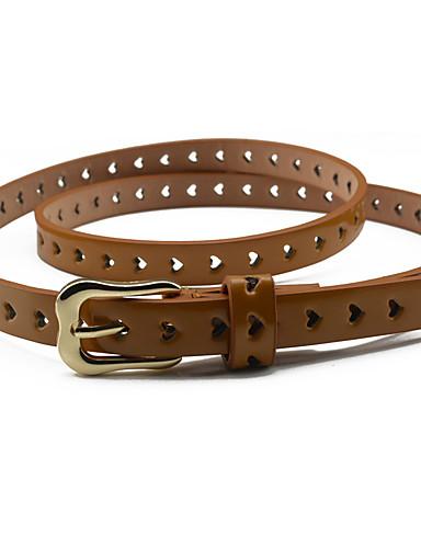 billige Tilbehør til damer-Dame Dress Belt Smalt belte Ensfarget Legering