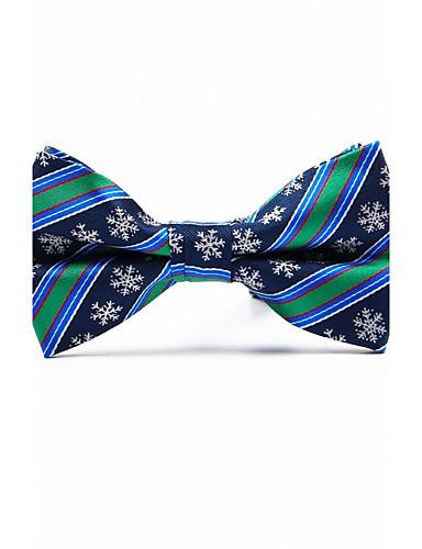 Men's Stripes Polyester Bow Tie - Jacquard
