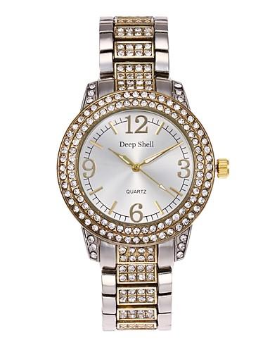Női Kvarc Szimulált Gyémánt Karóra Szkeleton óra Divatos óra Kínai Hot eladó ötvözet Zenekar Alkalmi Ezüst Arany