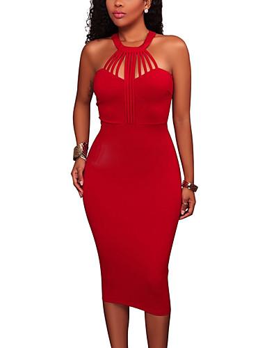 8efc44de1be0 Γυναικεία Πάρτι Κλαμπ Εφαρμοστό Φόρεμα - Μονόχρωμο