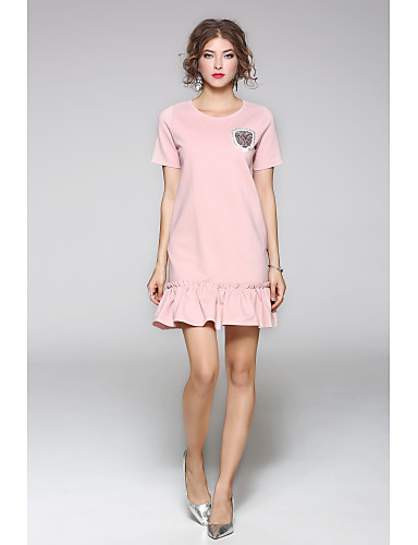 JOJO HANS Women's Sheath Dress - Solid Colored, Print
