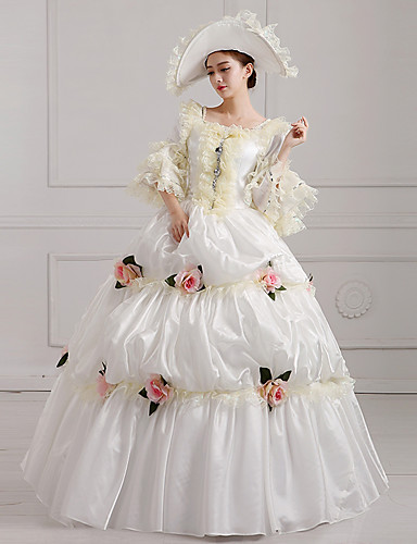 a87315a4f021 Witch Princess Queen Dress Cosplay Costume Ball Gown Victorian Medieval  Renaissance Halloween Carnival New Year Festival / Holiday Beige Carnival  Costumes ...